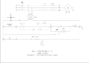 A control wiring diagram created automatically by GSN's electrical designer software.